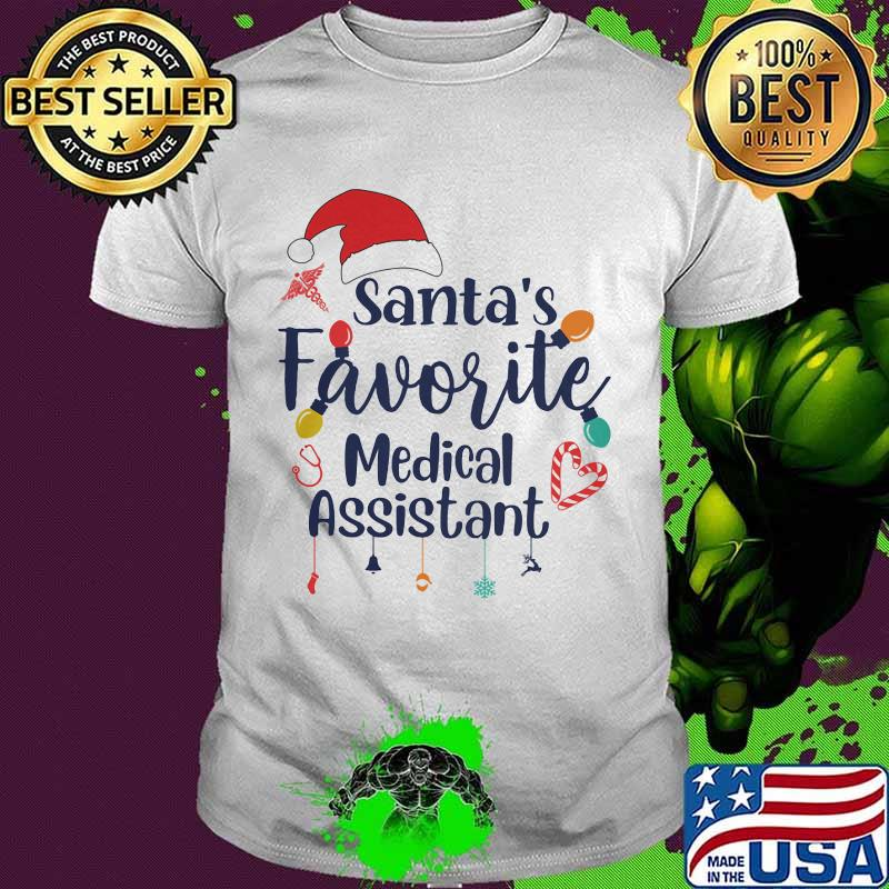 Santa's Favorite Medical Assistant Merru Christmas Shirt