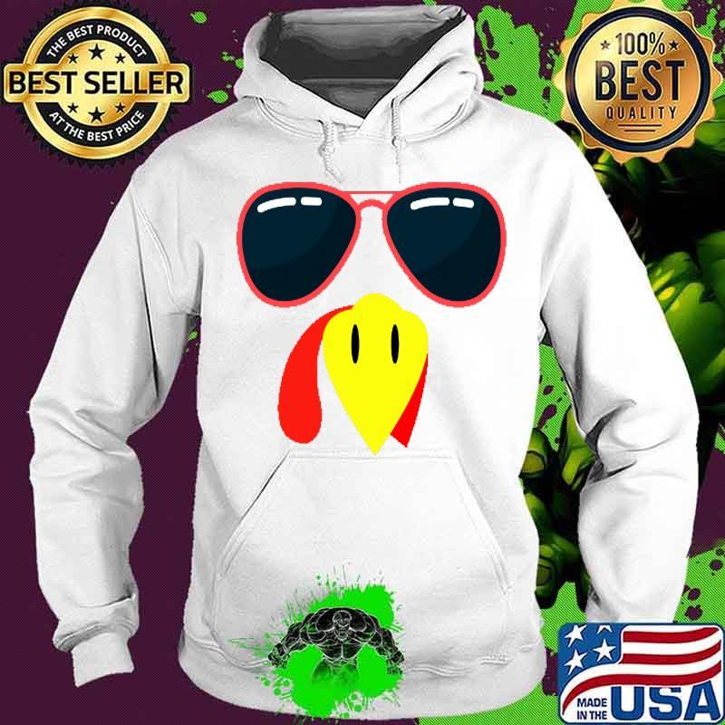 Silly Turkey Face Funny Thanksgiving Fall Joke Humor Shirt Hoodie