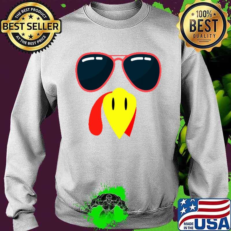 Silly Turkey Face Funny Thanksgiving Fall Joke Humor Shirt Sweater