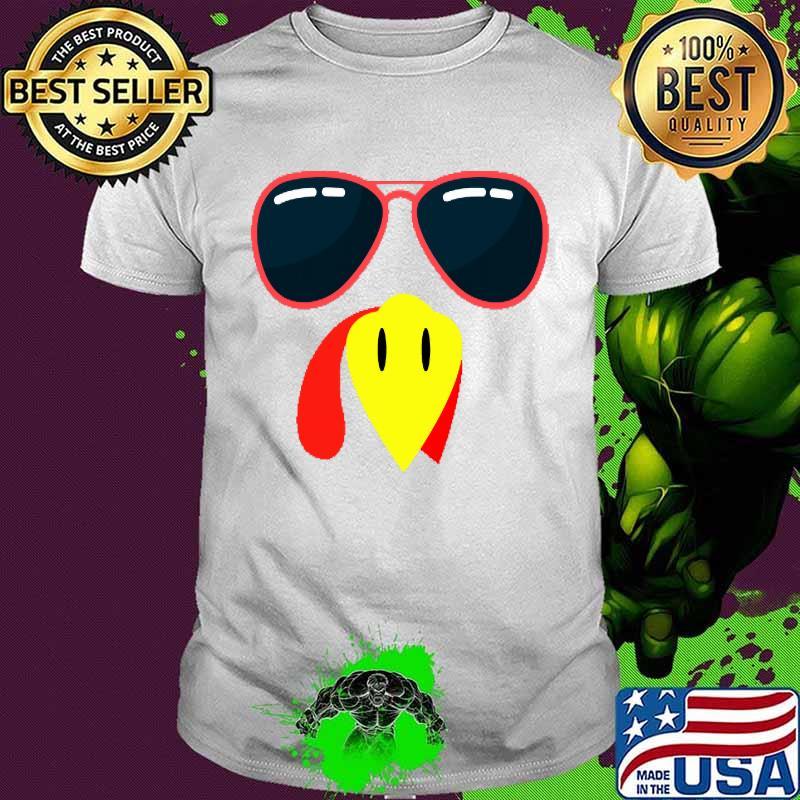 Silly Turkey Face Funny Thanksgiving Fall Joke Humor Shirt
