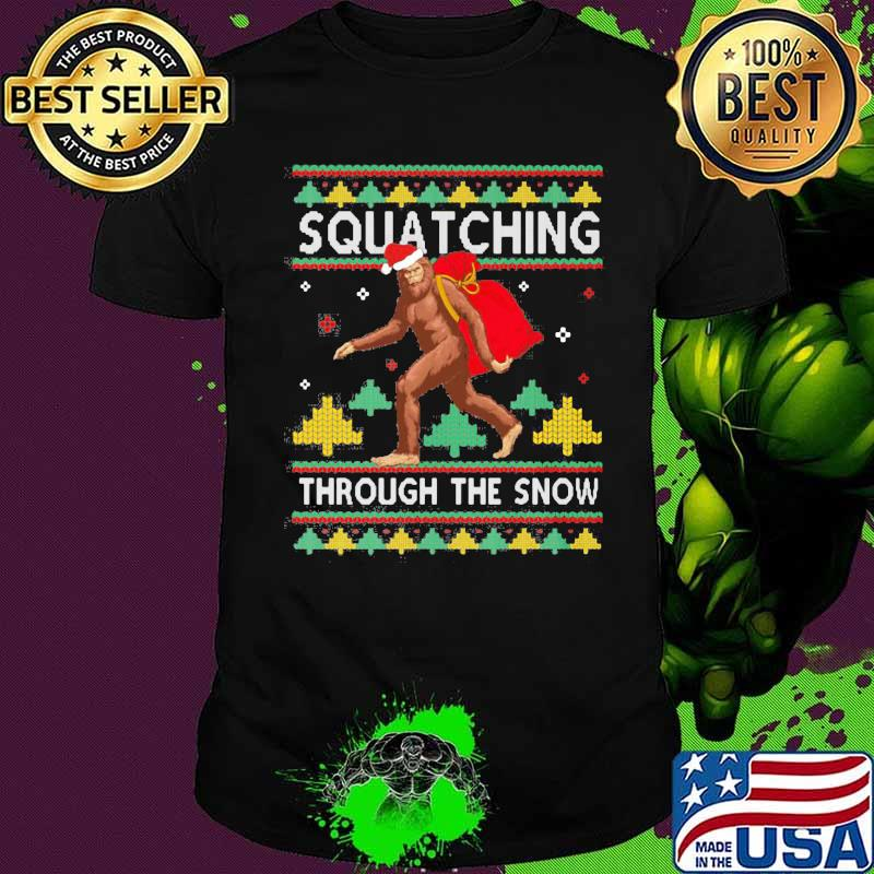 Souatching Through The Snow Santa Clause Xmas Shirt