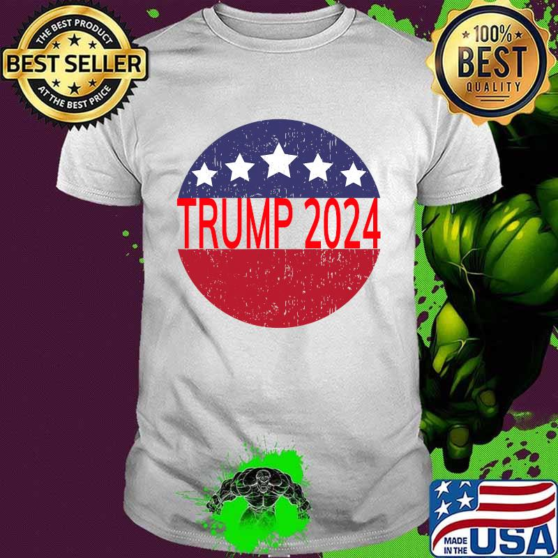 Trump 2024 Campaign For President Distressed Star Circle Shirt
