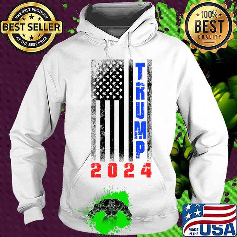 Trump President 2024 American Flag Shirt Hoodie