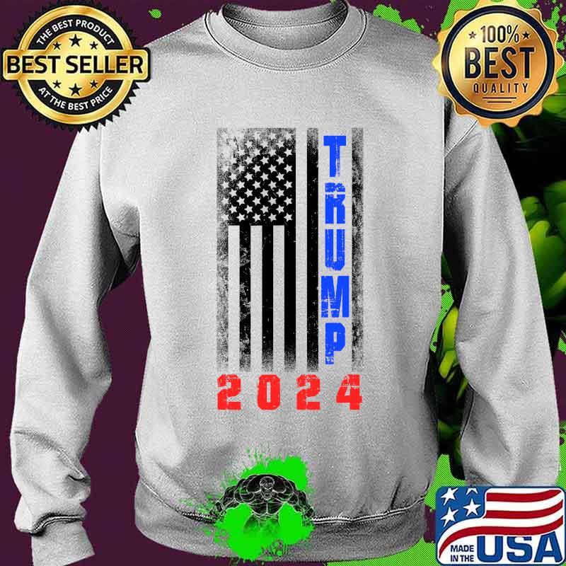 Trump President 2024 American Flag Shirt Sweater