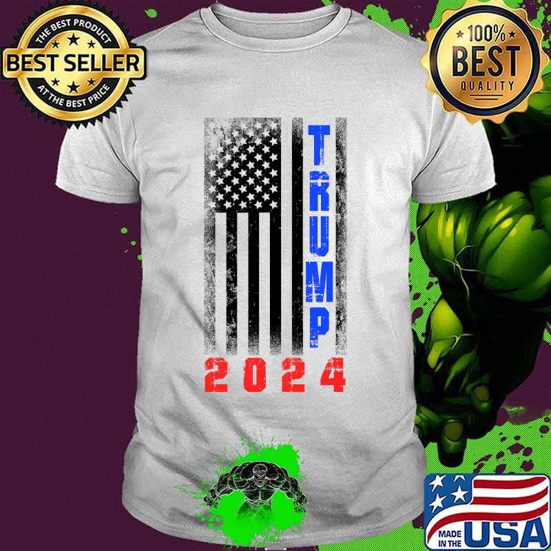 Trump President 2024 American Flag Shirt