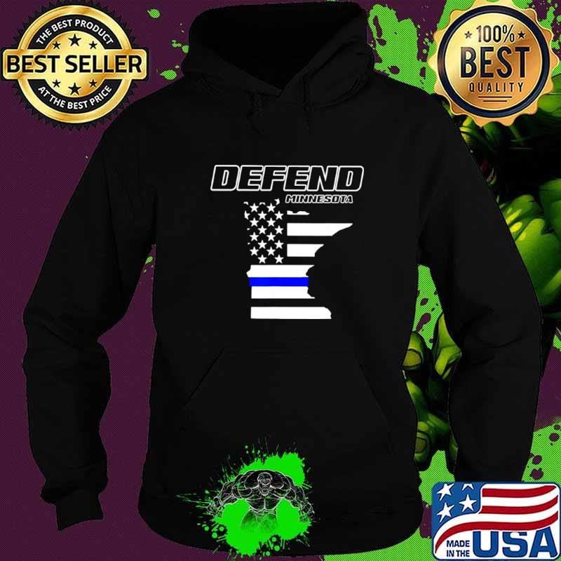 Minnesota State Defend Police Officer Support Blue American Flag Hoodie