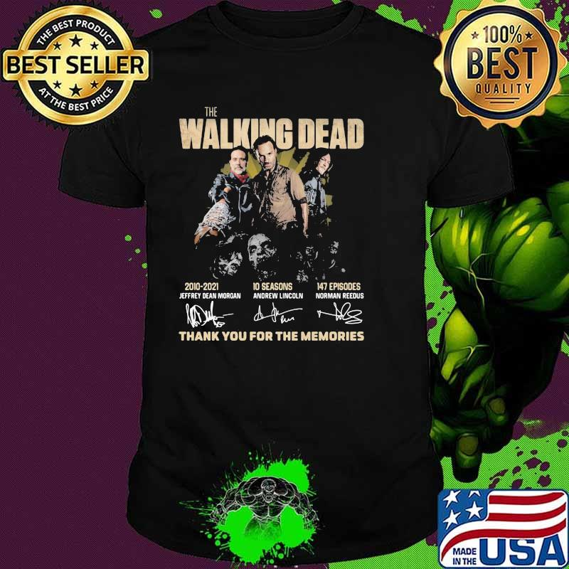 The Walking Dead 2010 2021 Thank You For The Memories Shirt