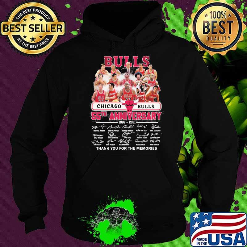 Chicago Bulls 55th anniversary 1966-2021 thank you for the memories signatures Hoodie