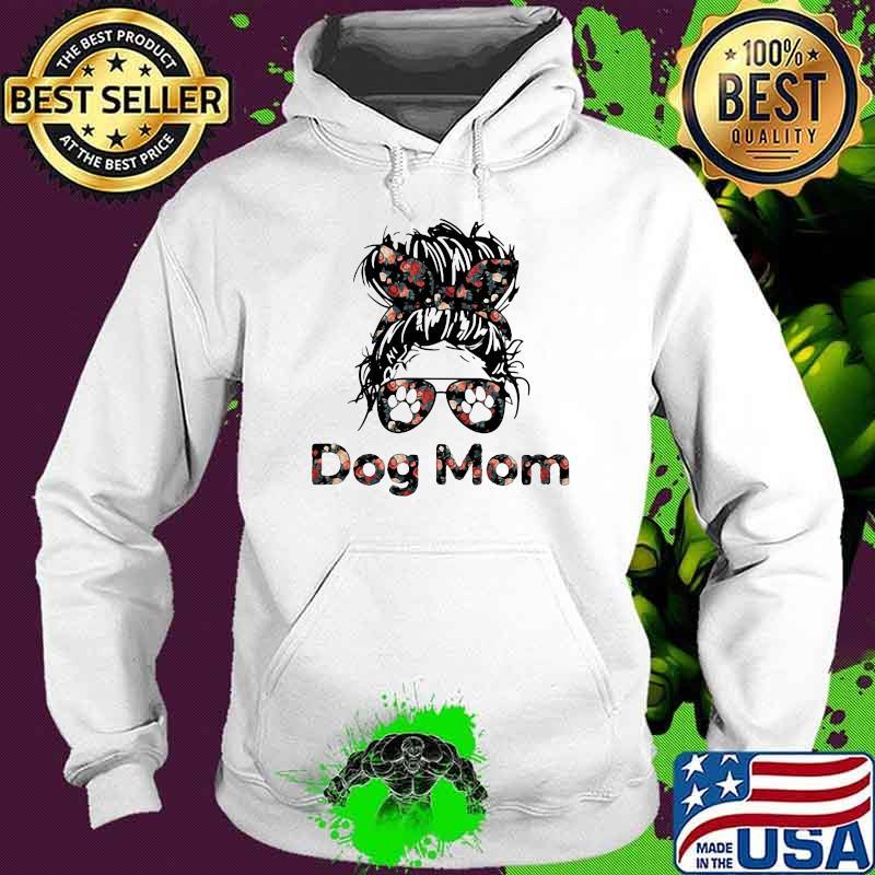 Official Dog Mom Flower Shirt Hoodie