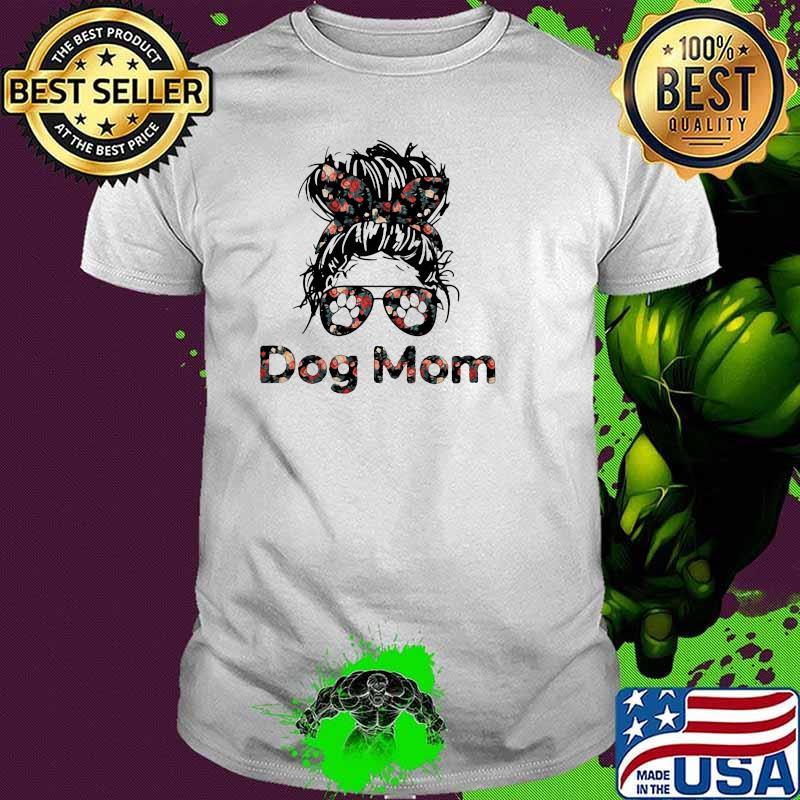 Official Dog Mom Flower Shirt