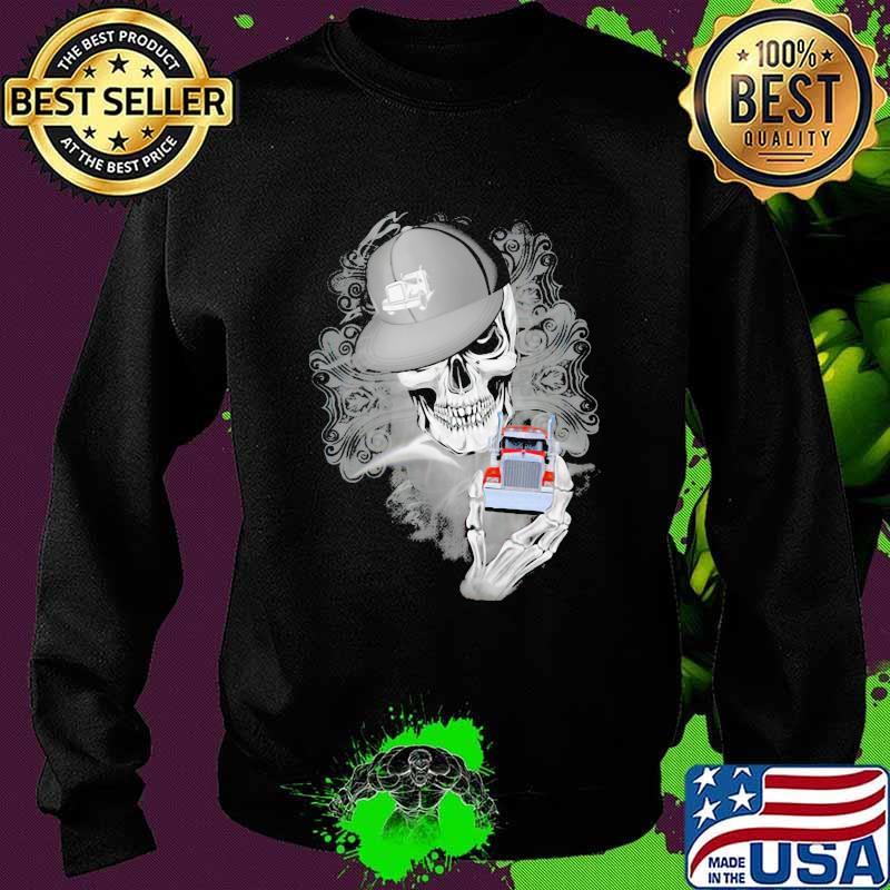 Official Skull Cap Trucker Shirt Sweater