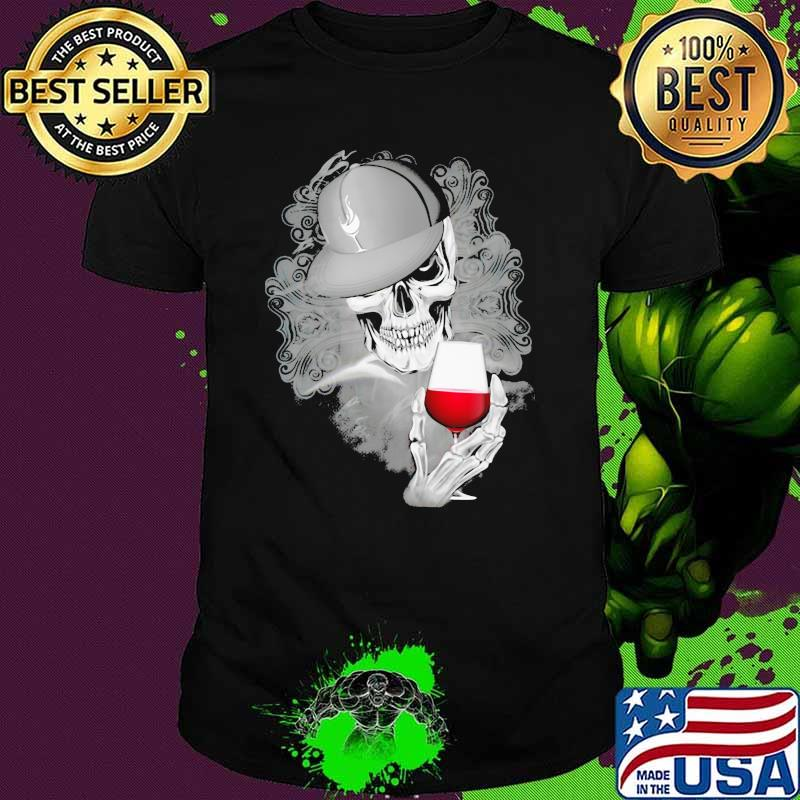 Official Skull Cap Wine Shirt