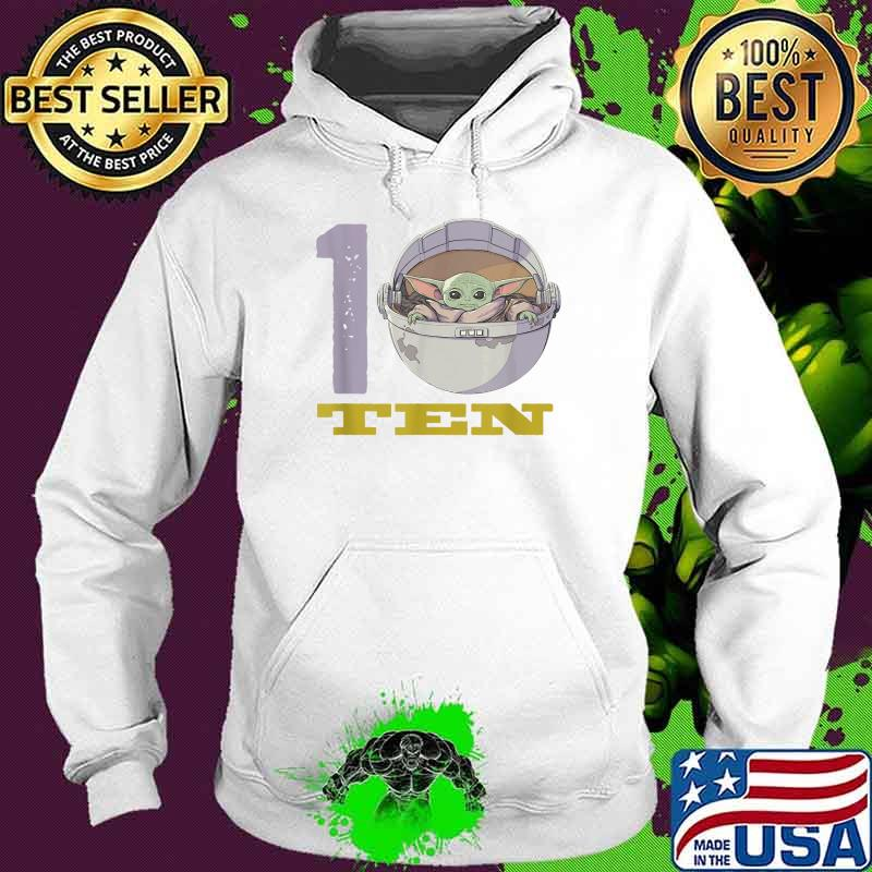 Star Wars The Mandalorian 10th Birthday Baby Yoda Shirt Hoodie