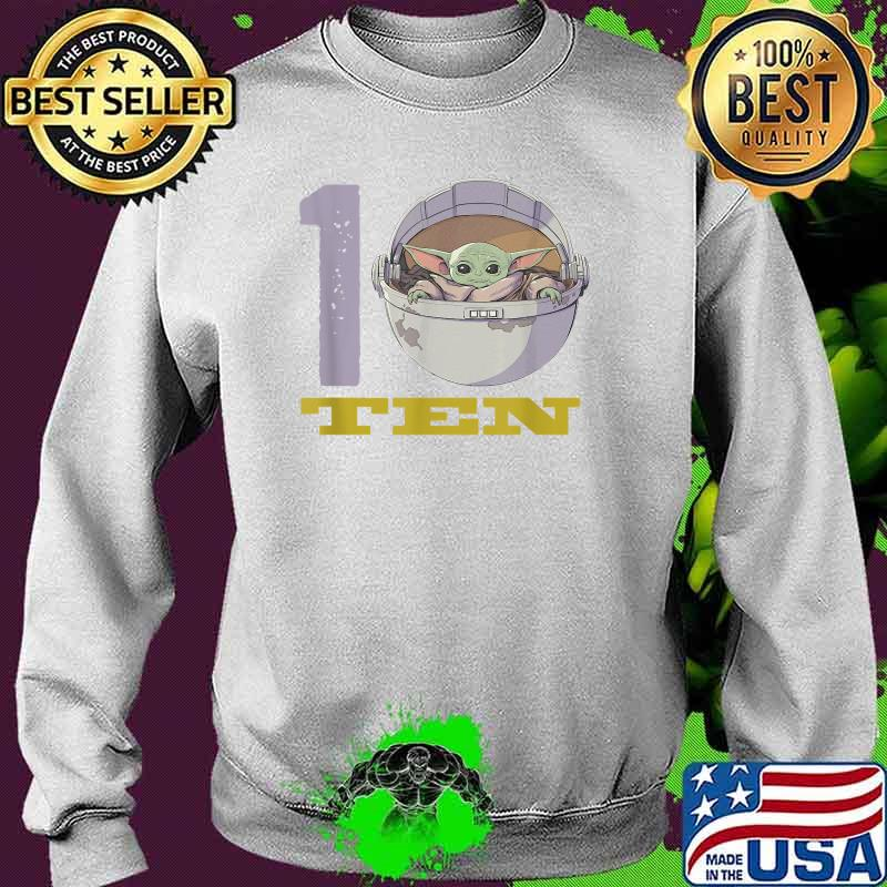 Star Wars The Mandalorian 10th Birthday Baby Yoda Shirt Sweater