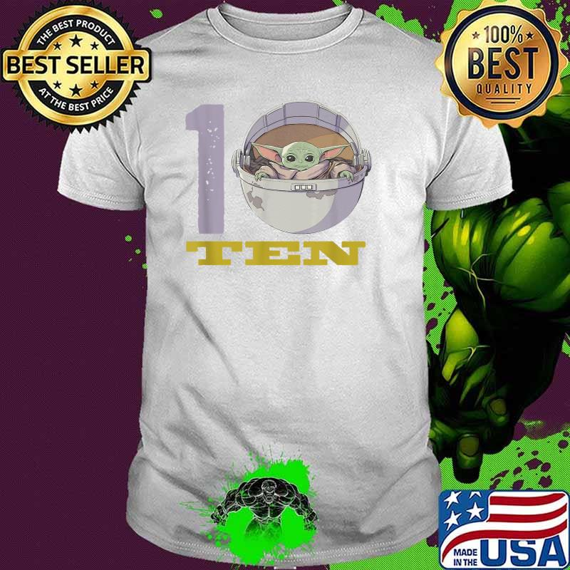 Star Wars The Mandalorian 10th Birthday Baby Yoda Shirt